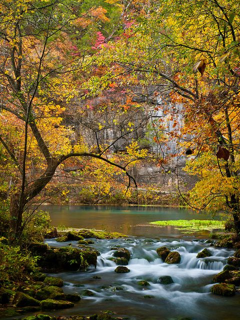 Alley Spring and Mill, in the Ozark National Scenic Waterways in southeastern Missouri, USA