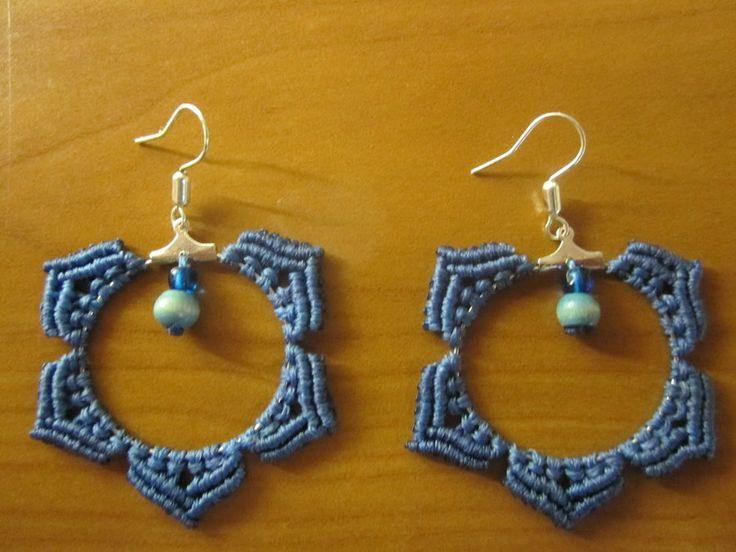 macrame earrings by Ursulaa.deviantart.com on @deviantART