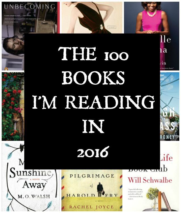 100 Books for 2016 from Goodreads.