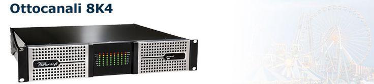 Ottocanali 8K4 este un amplificator audio profesional, cu multiple canale (8ch.) care ajunge la un total de 8000W putere.