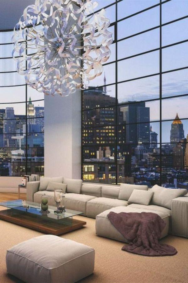 Intérieur d'un appartement new-yorkais lux