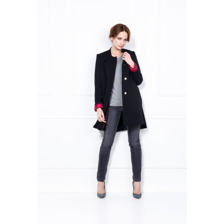 Krótki płaszcz z małą stójką - PATRIZIA ARYTON