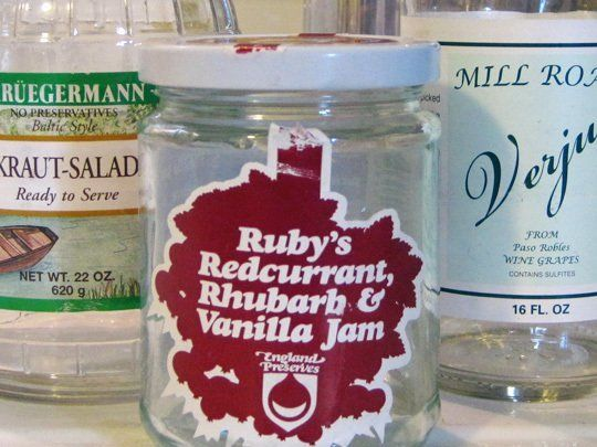 We reuse jars and bottles everywhere in the home – to store bulk grains, dish soap, buttons, nails, you name it. Removing the sticky labels and any odors (most often from foods like tomatoes, pickles, and garlic) from the jars is a mundane yet satisfying task. Here's how we do it.