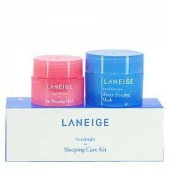 ขอแนะนำ  Laneige Goodnight Sleeping Care Kit Set (Water Sleeping Mask 15ml.+Lip Sleeping Mask 3 g.)  ราคาเพียง  395 บาท  เท่านั้น คุณสมบัติ มีดังนี้ สต้นตำหรับที่ขายดีสุดๆ แค่ทาทิ้งไว้ก่อนเข้านอนโดยไม่ต้องล้างออก เช้ามาก็ ใสปิ้งพัฒนาสูตรโดยมีเรื่องของการดีท็อกซ์ผิวคือSleeptoxที่ช่วยในการนอนหลับ