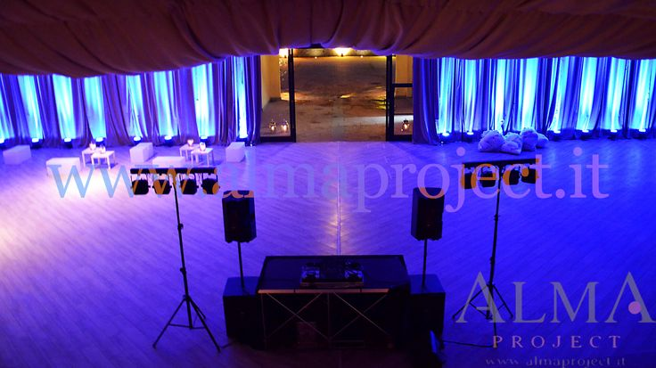 ALMA PROJECT @ Il Borro - dj eva console - curtains uplights - blue - Small light system for party