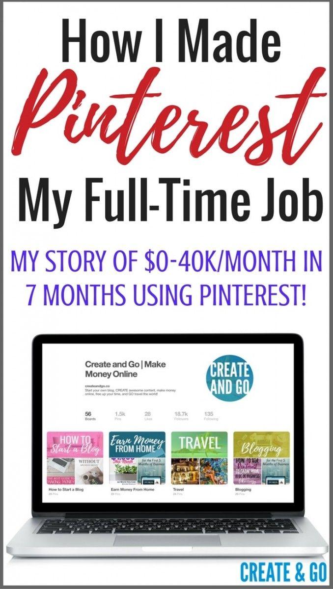 How I Made Pinterest My Full-Time Job