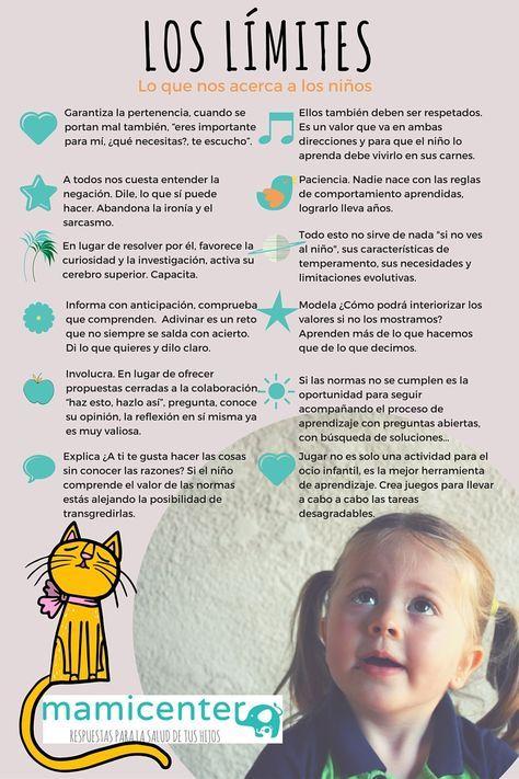 Infografía poner limites para acercarnos a los niños