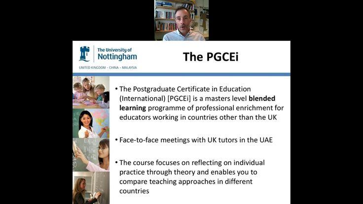 University of Nottingham PGCEi Middle East Webinar - July 12, 2017