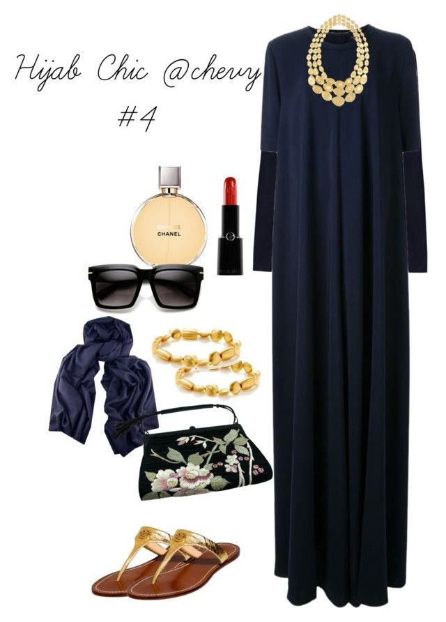 """Hijab Chic @chevy"" by chevy-mona-adiwar on Polyvore featuring James Lakeland, Lanvin, Tory Burch, Mary Louise Designs, Armani Beauty, Chanel, Marco Bicego and Tom Ford"