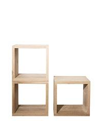 Oak storage cubes