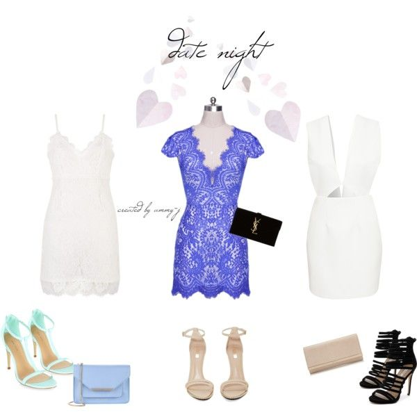 DATE NIGHT by ammy-j on Polyvore featuring Solace, Jeffrey Campbell, Siren, Ted Baker, Jimmy Choo and Yves Saint Laurent