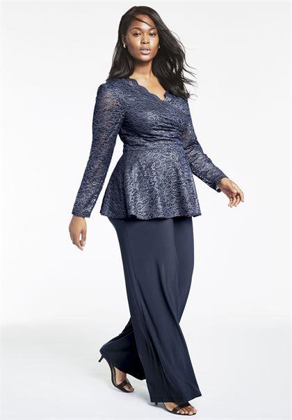 Lace Pantset   Plus Size Evening Dresses   Roamans