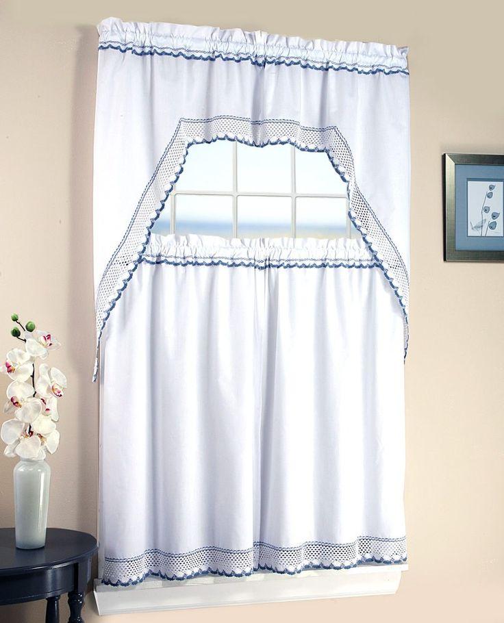 29 Best Crochet Kitchen Curtains Images On Pinterest  Cortinas Impressive White Kitchen Curtains Design Ideas