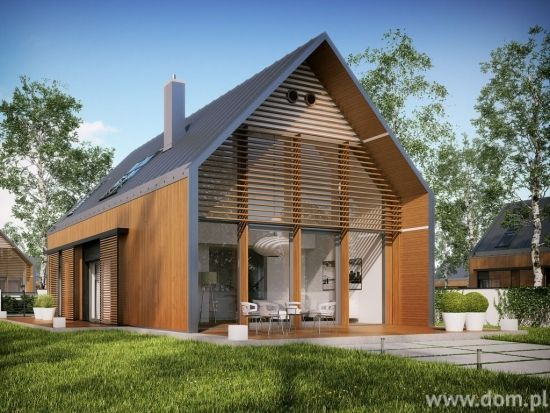 Casa cu fatade din lemn