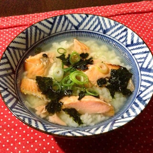 食べたくて - 20件のもぐもぐ - 深夜の鮭茶漬け by tabajun
