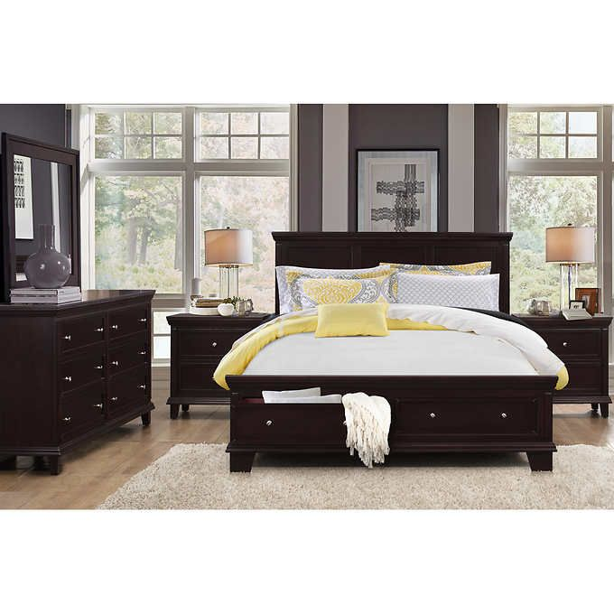 Cool Alton 5 piece King Storage Bedroom Collection Modern - Contemporary costco bedroom furniture Trending