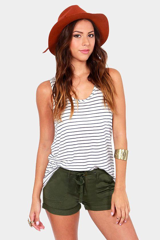 Roxy Warming Days Army Green Shorts