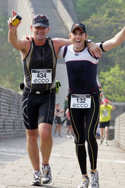Graham Ross and Matthew Ashcroft met at the Great Wall Marathon