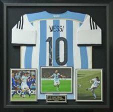 Lionel Messi's Soccer Uniform.