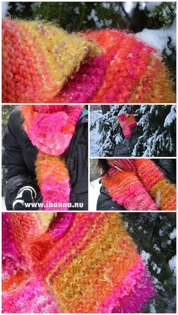 Crazy iHanna Scarf knitted & designed by @ihanna #knitting