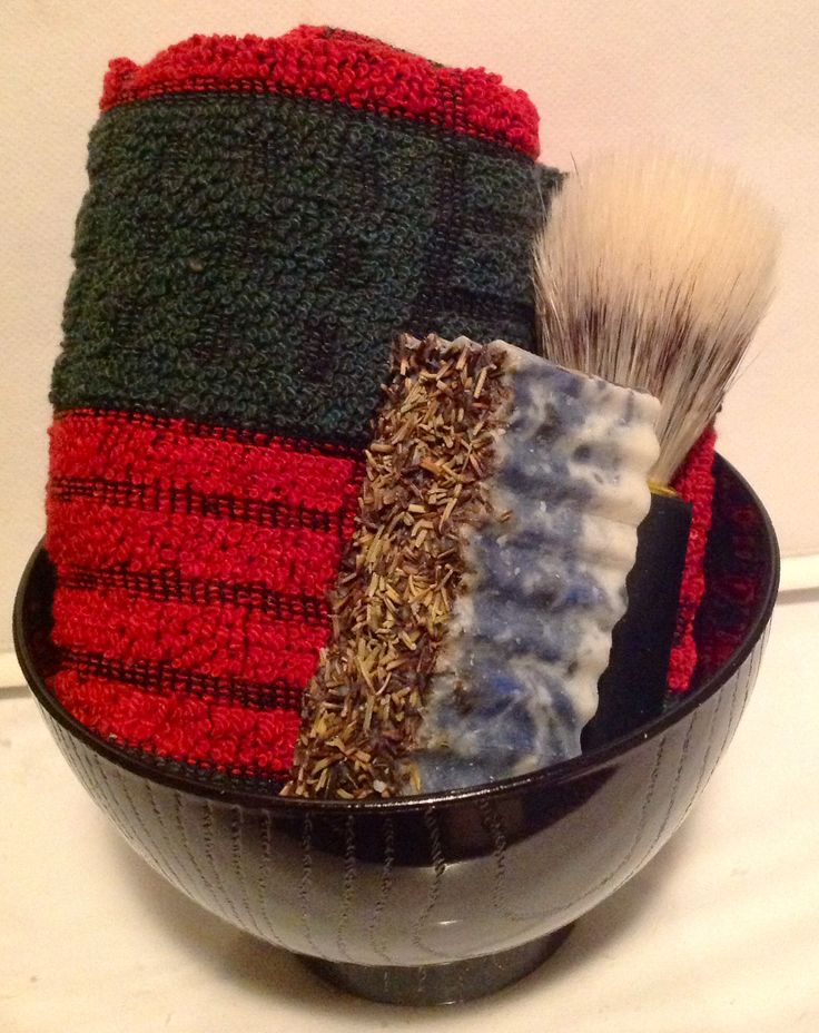 Fathers Day Gift Sets $20 ea includes Handmade Shaving Bar, Hand-towel, Bowl, & Brush.  Find my gifts on Facebook!