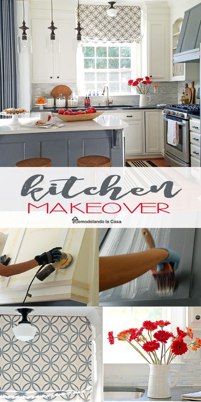 Modern Farmhouse Kitchen makeover   Red kitchen decor, Red kitchen ...