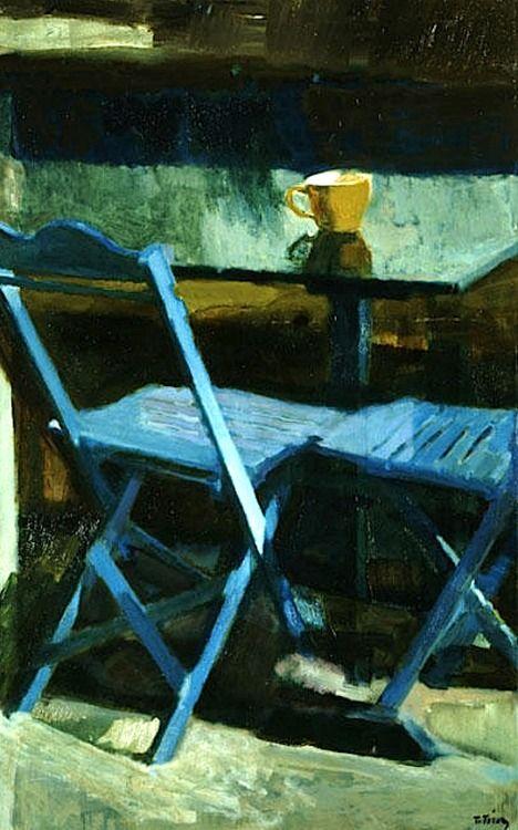Panayiotis Tetsis (Greek, 1925) - The Blue Chairs II, 1976