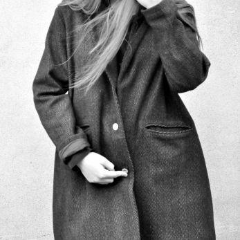 """Manteau """"femme"""", drap chevron"""