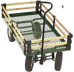 Garden Wagon - Gardening prevents back strain and injury from carrying heavy items