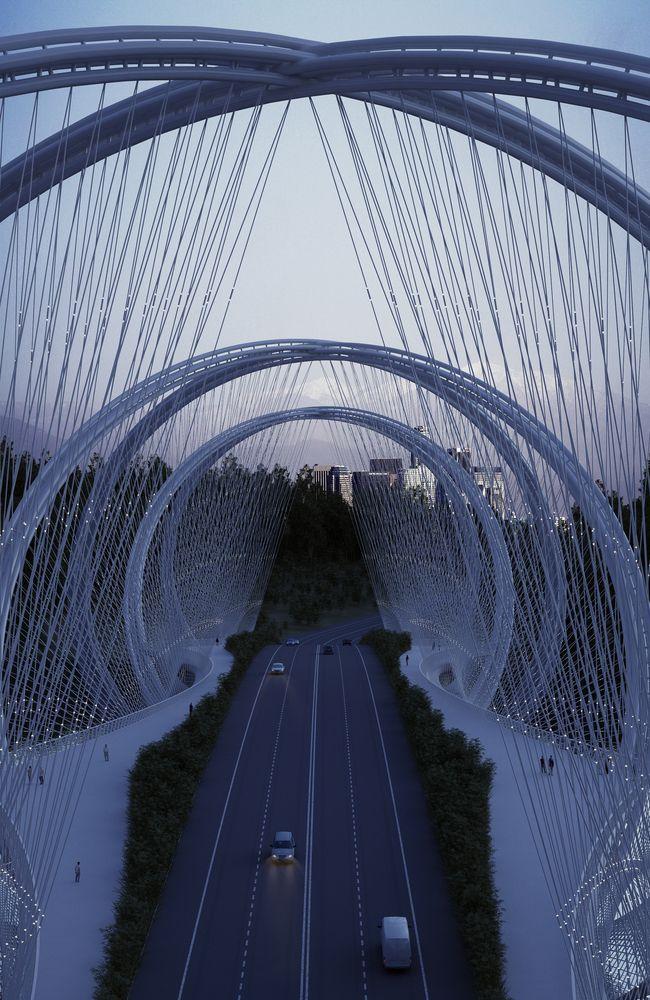 Gallery of Penda Designs Bridge Inspired by Olympics Rings for 2022 Beijing Winter Games - 5