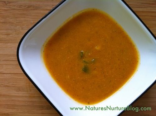 A hearty, filling, creamy soup made with carrots, zucchini, and celery. A great way to use up some extra carrots and zucchini!
