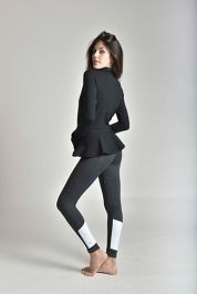 The Shameless Grey with White - Strut-This | Dress Up Your Workout - Fashionable Workout Clothing