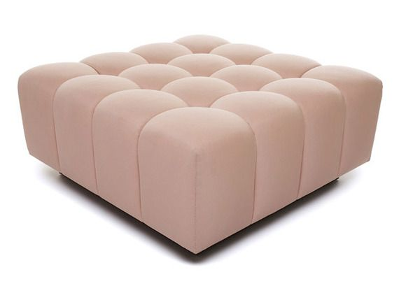 Buy 4x4 Ottoman - Ottomans and Poufs - Seating - Furniture - Dering HallDelicate Crowns, Palettes Design, Hands Tufted Ottoman, Ottomans And Poufs, Ottoman Beautiful, Beautiful Shape, 4X4 Ottoman, Ottoman Naula, Furniture Design