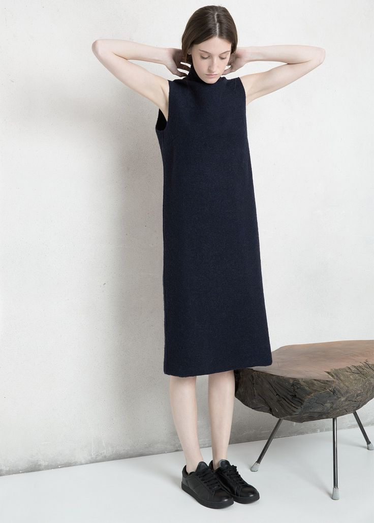 PREMIUM - Shift wool-blend dress