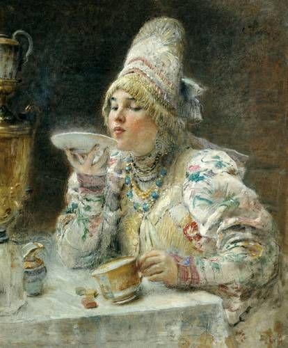 Konstantin Makovski: Le thé (1914)