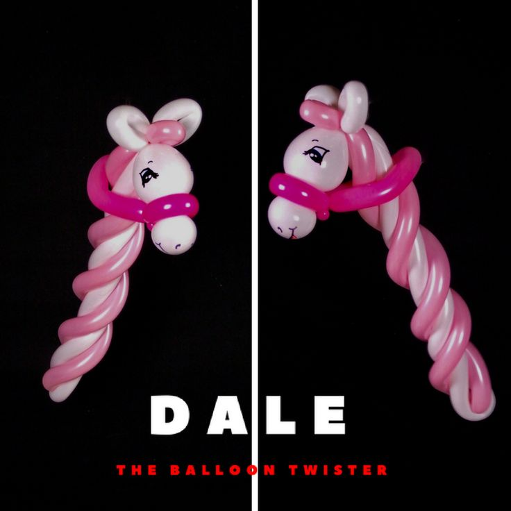Stick pony only using 4 balloons. Inspired by a Michelle Uulf design. #betallic #daletheballoontwister daletheballoontwister.com #stickpony #birthdaypartyideas #kidsbirthdaypartyideas #derbypartyideas #balloonanimals