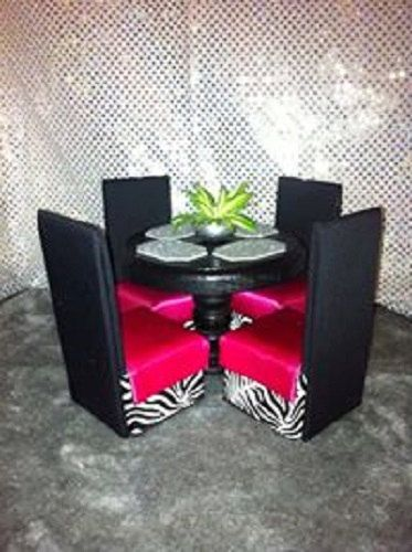 Barbie Furniture Dining Table & Chairs  by NanasBarbieFurniture, $39.95