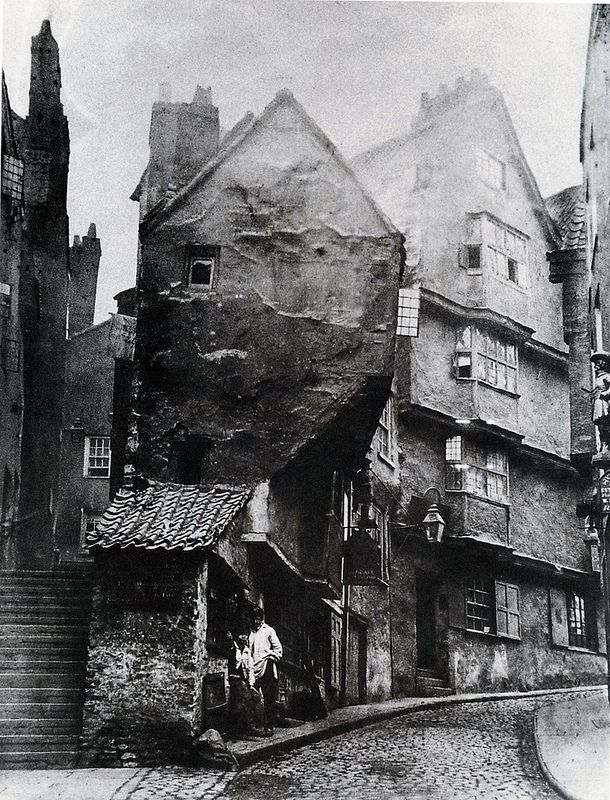 1866 medieval Steep Street from the junction with Trenchard Street