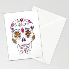 Day of the Dead Mexican Skulls Stationery Cards