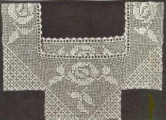 Early Uses of Filet Crochet -  Rose Yoke