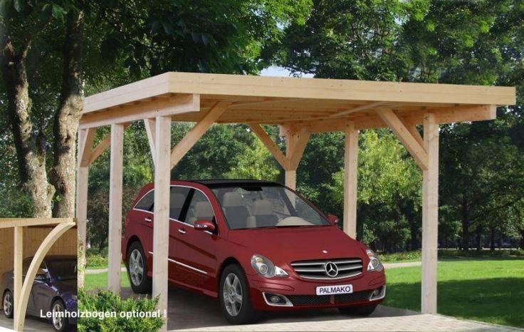 Small carport holz garage kiel natur car ports for Carport pfosten
