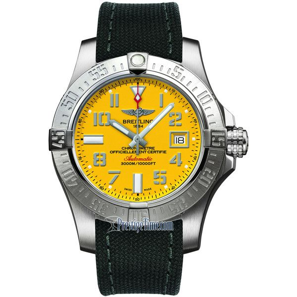 Breitling Avenger II Seawolf a1733110/i519-1ft Watch ($3,115) ❤ liked on Polyvore featuring men's fashion, men's jewelry, men's watches, stainless steel, mens diamond bezel watches, engraved mens watches and breitling mens watches