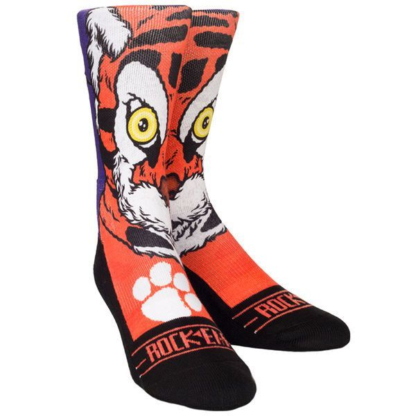 Clemson Tigers Youth Mascot Crew Socks