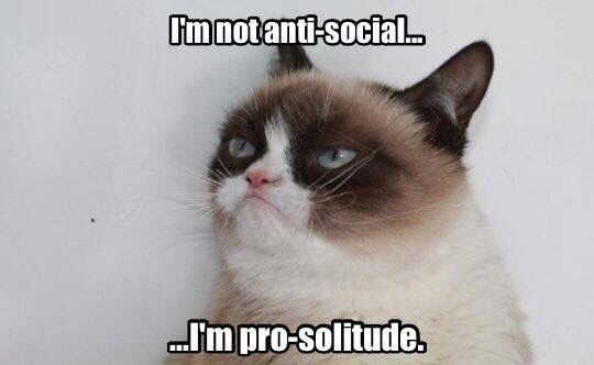 I'm not anti-social...I'm pro-solitude.