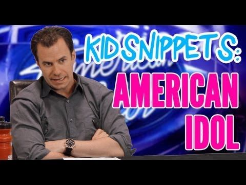 "Kids talk about something and the adults act it out!  Kid Snippets: ""American Idol"" (Imagined by Kids) HILARIOUS!"