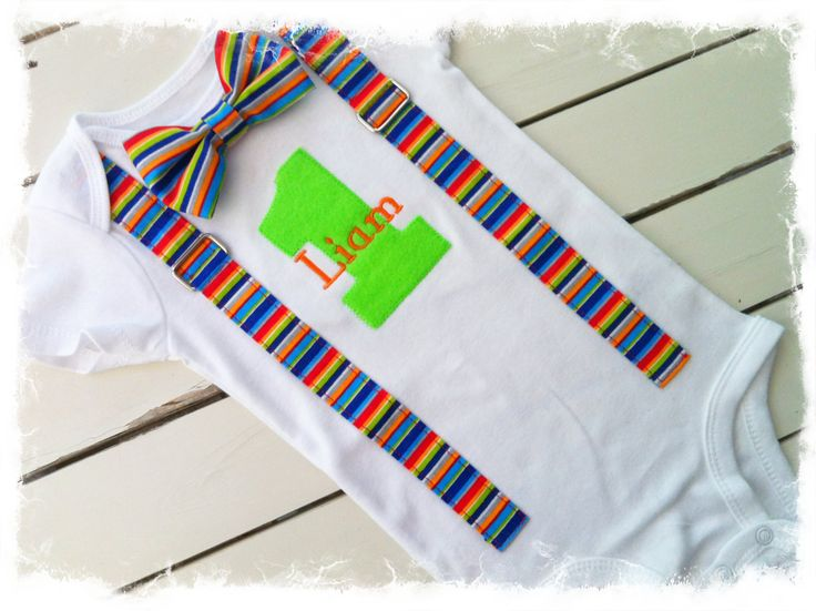 Boys First Birthday Bow Tie OutfitBoys Birthday by BetterThanBows