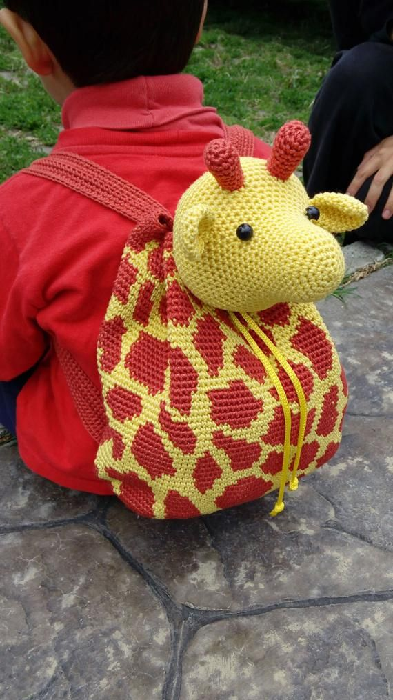 Crochet pattern for giraffe backpack cute and practical