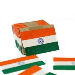 Indian Flag | for Chest Pockets | Khadi Cotton | Pack of 50 Size: Small Material: Khadi Cotton Dimensions: 6×4 cm Package Contents: 1 Pack of 50 Small Size Pocket Flags Ideal Pole Height: NA Product Weight in GMS: 1