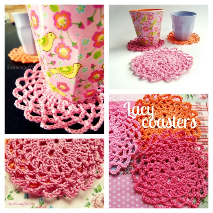 Funky Häkelarbeitblume Coaster Kostenlos Muster Model - Decke ...