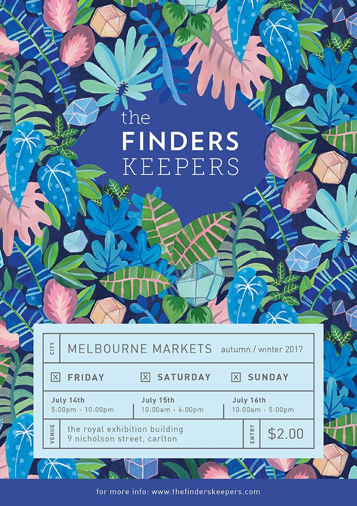 The Finders Keepers | Melbourne AW17 Poster | Artwork by Togetherness Design